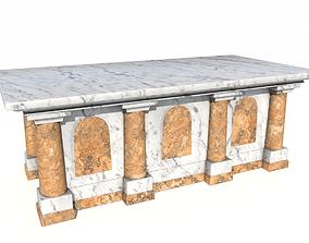Marble altar 4 3D asset
