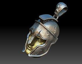 spartan warrior pendant 3D printable model