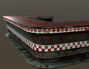 3D model Retro Bar Table