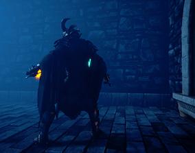rigged Dark knight 3D model animated PBR