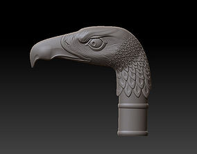 3D printable model Crutch with head of eagle