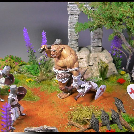 """Diorama - """"Troll Attack""""."""