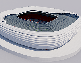 Allianz Arena - Munich Germany 3D model national