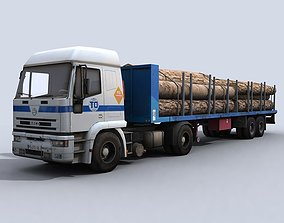 3D model Transport Truck