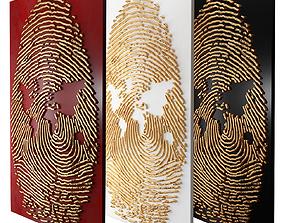 3D fingerprint mural