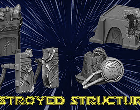 3D print model Destroyed Structuresd