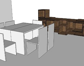 tv table dining table 3D printable model