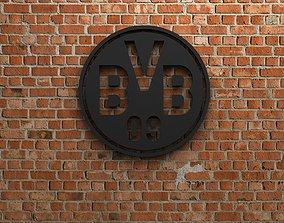 3D Borussia Dortmund Logo