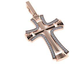 classic diamond cross 3D print model