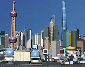 ShangHai Downtown I 3D asset