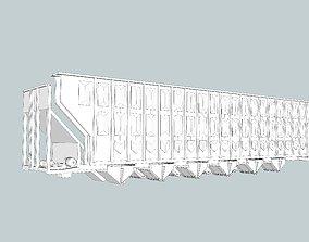 3D printable model Woodchip Hopper Railroad Car Sides 3