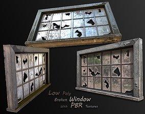 3D model broken window