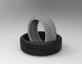 Nokian tire ring with hakkapeliitta pattern 3D print model