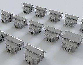 House Building Collection 3D asset