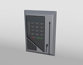 Security Keypad with Magnetic Stripe Card Reader 3D asset