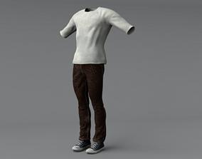 Men Clothing Set 2 3D model