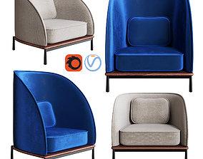 3D model Stellar Works - Arc Highback Chair and Arc Lounge