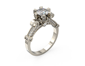 fashion-and-beauty 3D print model Engagement Ring