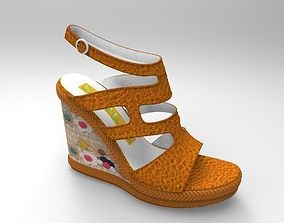 3D Sandal with Wedge sole