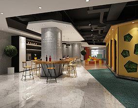 3D Office reception hall restaurant Leisure Area