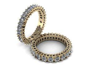 diamond Eternity Jewelry Ring 006 3D print model