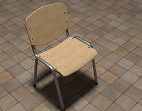 Canteen Chair Low-poly 3D model realtime