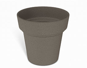 Brown Flower Pot 3D