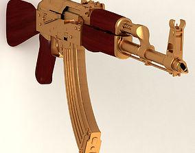 golden AK47 3D