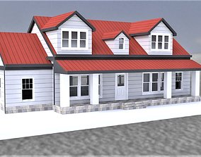 Barn style architecture Residential 3D asset