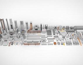 Sci-Fi architecture Elements collection 17 3D model