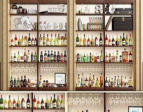 Alcohol Bar Set 4 3D