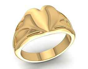 heart gold ring 1667 3D printable model