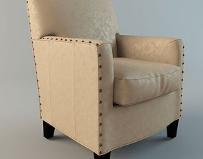 Alabaster Leather Chair 3D