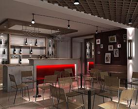 3D model coffee-interior Coffee house