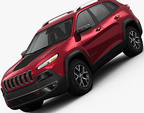 Jeep Cherokee Trailhawk 2014 detailed interior 3D model