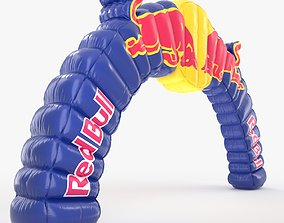 Red Bull Inflatable Arch 3D model