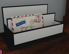 3D asset Letter rack and letter