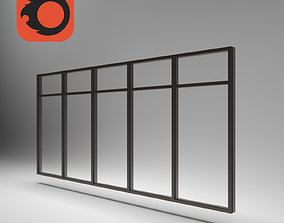 geometric aluminum stained glass 3D model