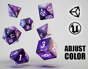realtime Role Playing Dice - RPG Dice Set - PBR Low-poly 3