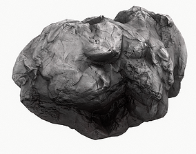 Meteor Asteroid Rock 4K 3D model low-poly