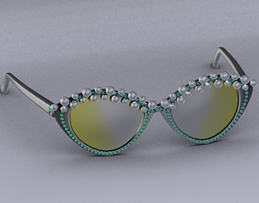 Sunglasses 3D asset low-poly pendant