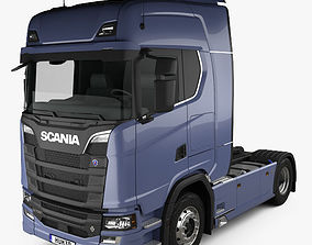 3D Scania S 730 Highline Tractor Truck 2-axle 2016