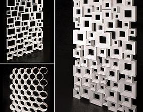 Decorative partition set 03 3D