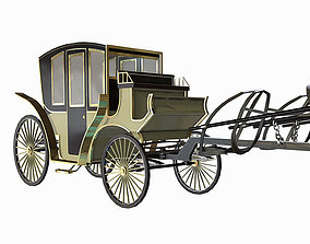 3D model game-ready carriage