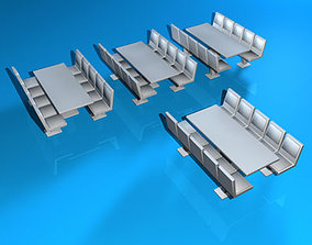 3D model Cafeteria tables