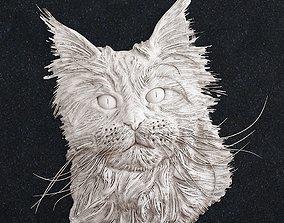 Cat Head head 3D print model