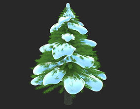 Snow Tree 3D forest