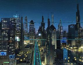 3D Future city 05