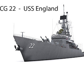 3D asset CG 22 USS England