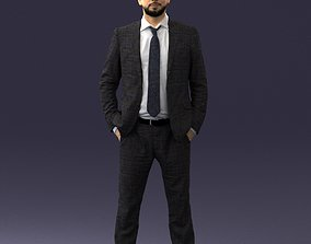Man in suit 0809 3D Print Ready